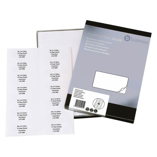 Business Multipurpose Labels Laser 14 per Sheet 105x42mm White [1400 Labels]