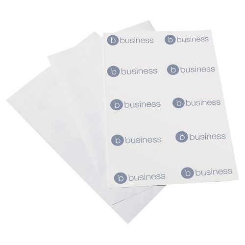 Business CD Labels Inkjet and Laser Printable 2 per Sheet 117mm Diameter White [200 Labels]