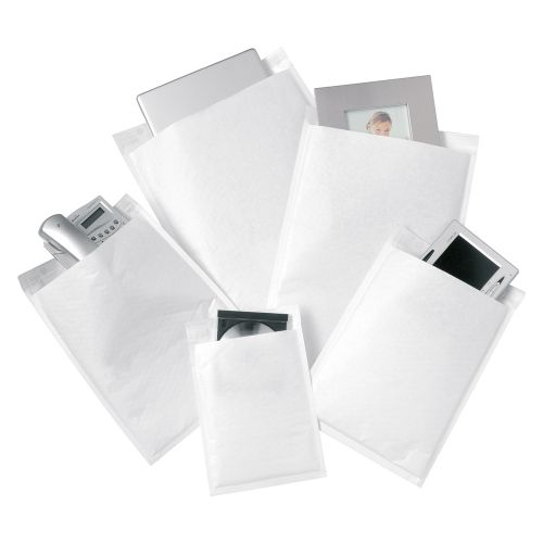 Business Bubble Bags Peel and Seal No.00 White 115x195mm [Pack 100]