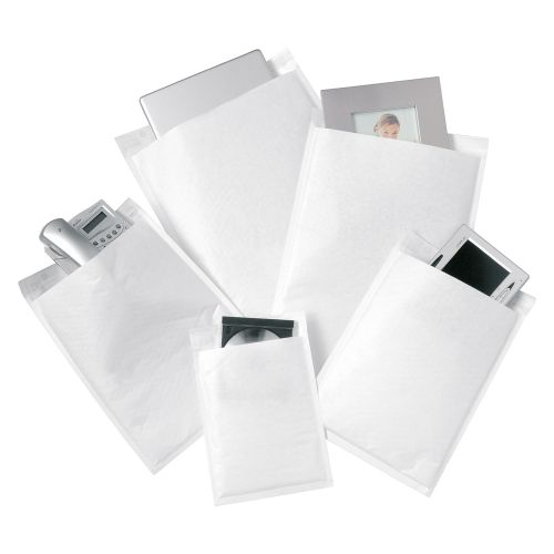 Business Bubble Bags Peel and Seal No.2 White 205x245mm [Pack 100]
