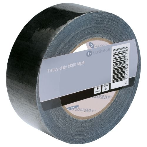 Business Cloth Tape Heavy-duty Waterproof Tearable Multisurface Roll 50mm x 50m Black