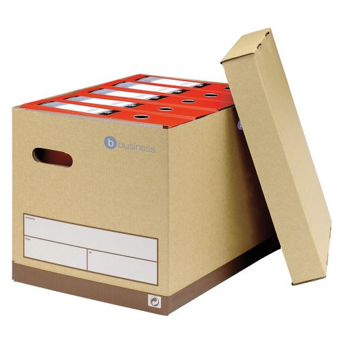 Business Premium Superstrong Archive Storage Box Foolscap Sand [Pack 10]