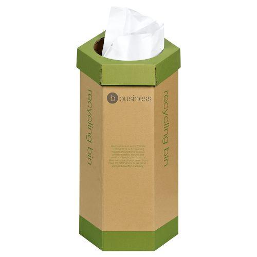 Business Eco Recycling Bin Cardboard [Pack 3]