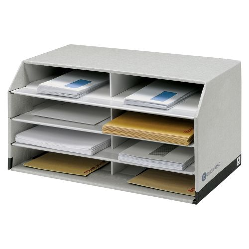 Business Document Sorter with 8 Compartments Grey