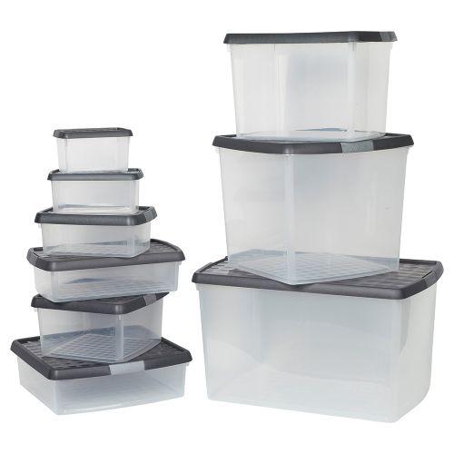 Business Premium Clip Box Plastic 13.2 Litre