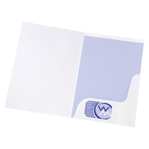Business Corporate Presentation Folder A4 Gloss White [Pack 50]