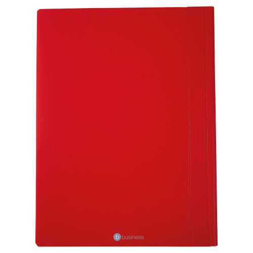Business Executive Flat File Semi-rigid Opaque Cover A4 Red [Pack 5]