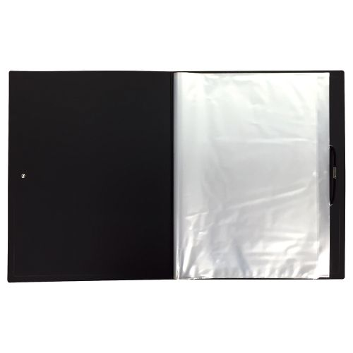 Business Display Book Hardback Cover Polypropylene 36 Pockets A4 Black