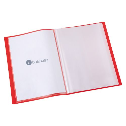 Business Display Book Soft Cover Lightweight Polypropylene 40 Pockets A4 Red