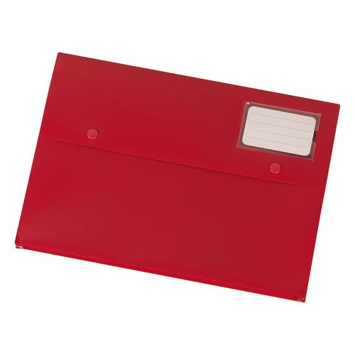 Business Document Wallet with Card Holder Polypropylene A4 Red [Pack 3]