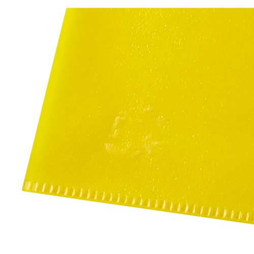 Business Folder Cut Flush Polypropylene Copy-safe Translucent 120 Micron A4 Yellow [Pack 25]