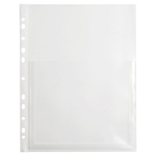 Business Premium Expanding Punched Pocket Polypropylene Top-opening 200 Micron A4 Clear [Pack 10]