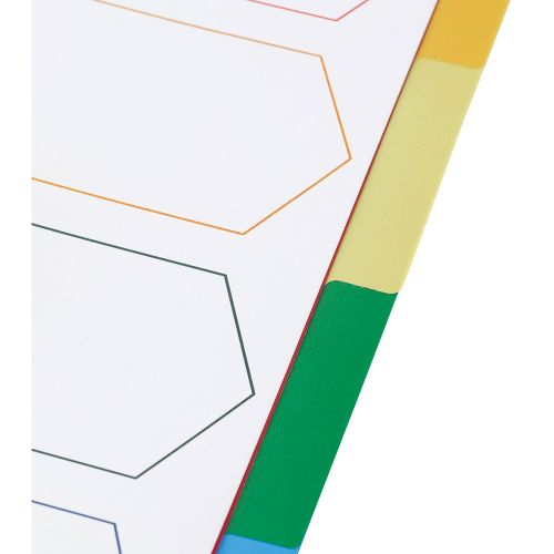 Business Premium File Dividers Multicoloured Tabs Polypropylene 5-Part A4 White