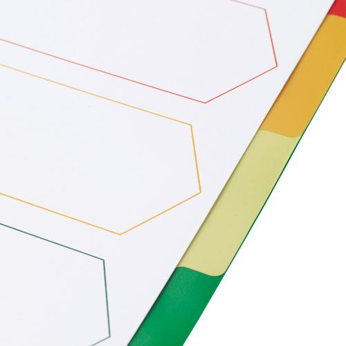 Business Premium File Dividers Multicoloured Tabs Polypropylene 5-Part Extra Wide A4 White