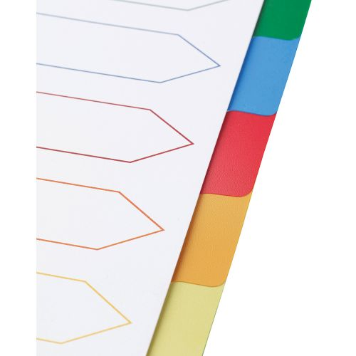 Business Premium File Dividers Multicoloured Tabs Polypropylene 10-Part Extra Wide A4 White