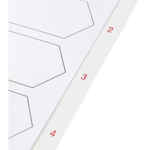 Business Premium Index White Tabs Polypropylene 1-6 A4 White