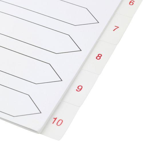 Business Premium Index White Tabs Polypropylene 1-10 A4 White