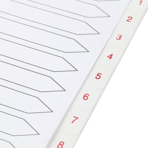 Business Premium Index White Tabs Polypropylene 1-15 A4 White