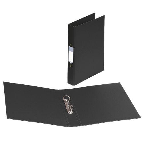 Business Ring Binder 2 O-Ring Size 25mm Polypropylene A4 Black [Pack 10]