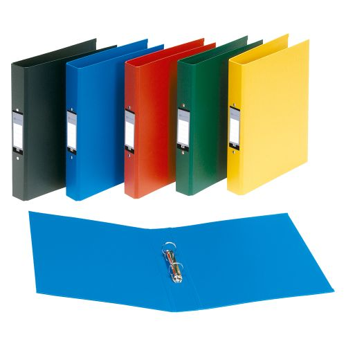 Business Ring Binder 2 O-Ring Size 25mm Polypropylene A4 Blue [Pack 10]