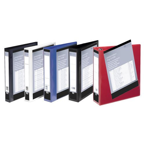 Business Presentation Ring Binder PVC 4 D-Ring 16mm Size A4 White [Pack 10]