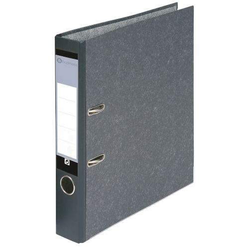Business Mini Lever Arch File 50mm Spine A4 Cloudy Grey [Pack 10]