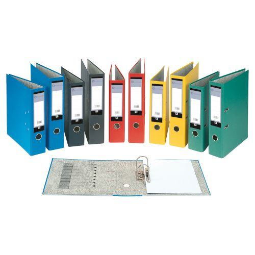 Business Lever Arch File 70mm Foolscap Black [Pack 10]