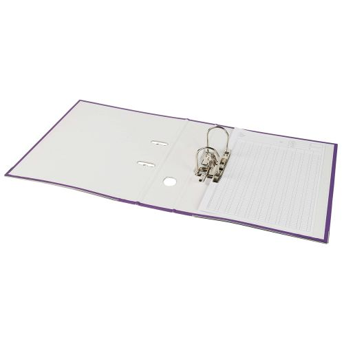 Business Lever Arch File 70mm A4 Purple [Pack 10]