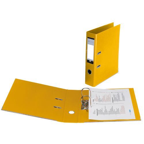 Business Lever Arch File Polypropylene Capacity 70mm A4 Yellow [Pack 10]