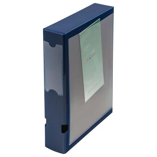 Business Document Box Polypropylene 60mm A4 Blue [Pack 10]