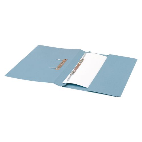 Business Premium Transfer Spring Pocket File Heavyweight 315gsm Capacity 38mm Foolscap Blue [Pack 25]