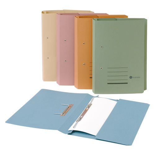 Business Transfer Spring Pocket File Recycled 285gsm Capacity 38mm Foolscap Green [Pack 25]