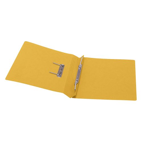 Business Premium Transfer Spring File Heavyweight 315gsm Capacity 38mm Foolscap Yellow [Pack 50]