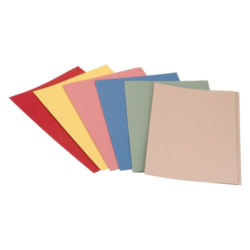 Business Premium Square Cut Folders Manilla 315gsm Foolscap Red [Pack 100]