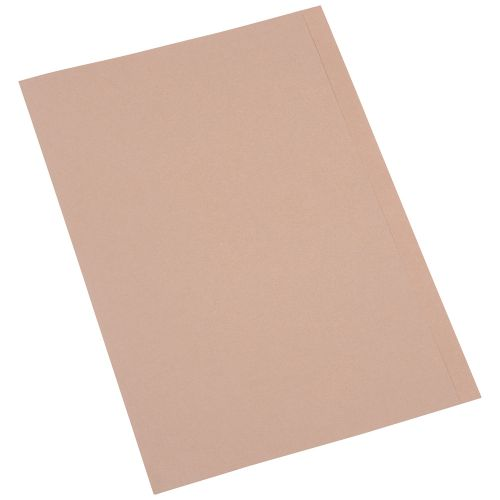 Business Square Cut Folder Recycled Pre-punched 250gsm Foolscap Buff [Pack 100]