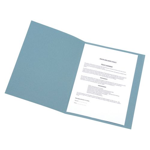 Business Square Cut Folder Recycled Pre-punched 250gsm A4 Blue [Pack 100]