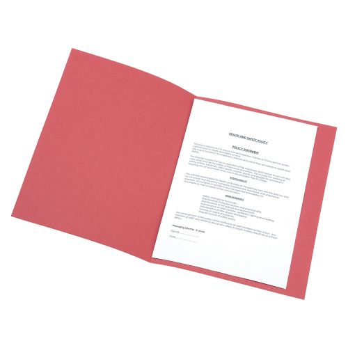 Business Square Cut Folder Recycled Pre-punched 250gsm A4 Red [Pack 100]