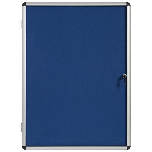 Business Noticeboard Glazed Lockable Aluminium Trim W900xH600mm