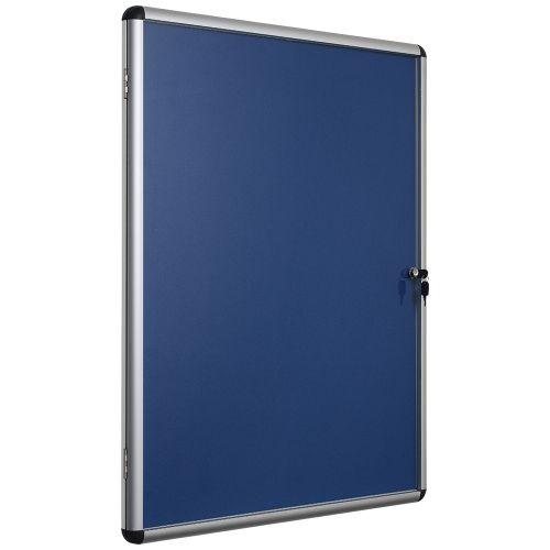 Business Noticeboard Glazed Lockable Aluminium Trim W1200xH900mm