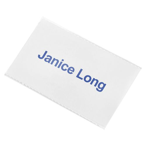 Business Name Badge with Combi-Clip Polypropylene 54x90mm [Pack 50]