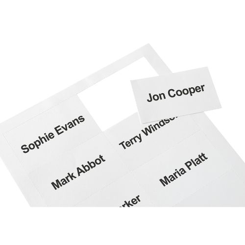 Business Badge Inserts 54x90mm 20 Sheets of 10 [200 Inserts]