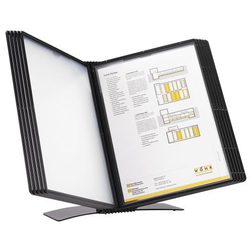 Business Desk Display Panel System Easy Mount 10 Pockets A4