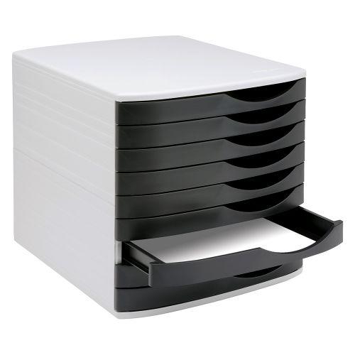 Business Premium Desktop Drawer Set 9 Drawers A4 and Foolscap Grey/Black