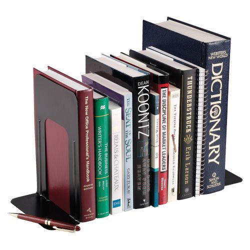 Business Bookends Large Metal Black [Pack 2]