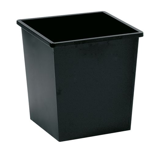 Business Waste Bin Square Metal Scratch Resistant W325xD325xH350mm 27 Litres Black