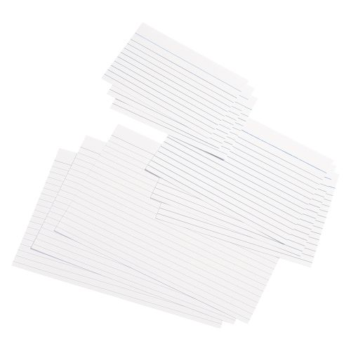 Business Record Cards Ruled Both Sides 8x5in 203x127mm White [Pack 100]