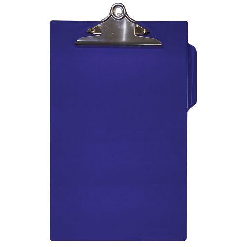 Business Clipboard PVC Finish Heavy Duty Foolscap Blue