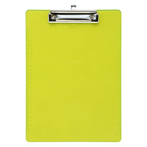 Business Clipboard Solid Plastic Durable with Rounded Corners A4 Lime Green
