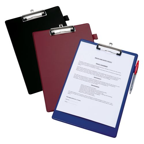 Business Standard Clipboard with PVC Cover Foolscap Black