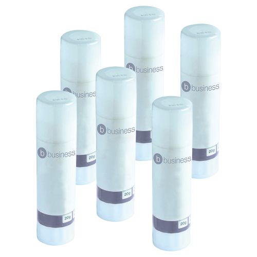 Business Glue Stick Solid Washable Non-toxic Medium 20g [Pack 6]